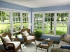 blue double hung windows